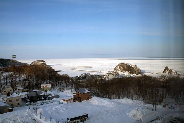 ホテルから海側の景観