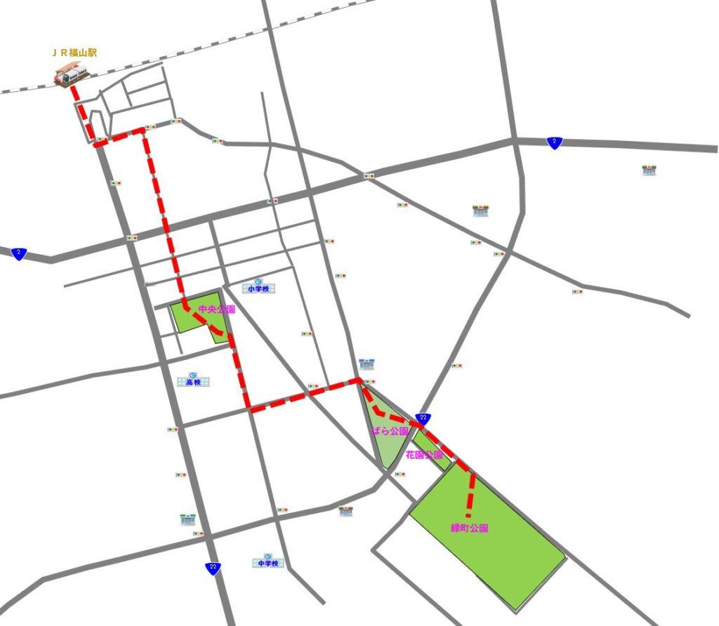 バラ祭 大まかな地図