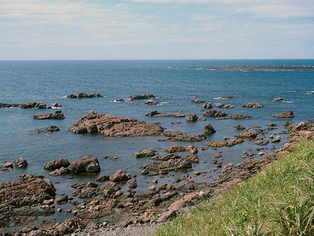 男鹿半島の先っぽ 入道崎の海岸