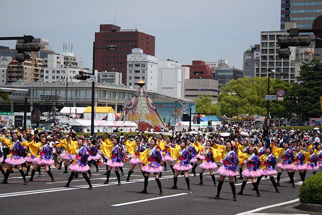 平和大通り よさこいパレード