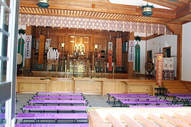護国神社 拝殿内部