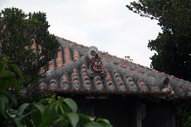 竹富島の家屋の屋根2