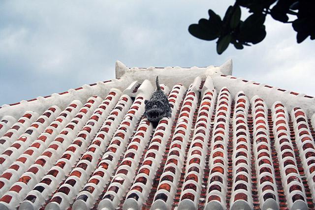 竹富島の家屋の屋根3