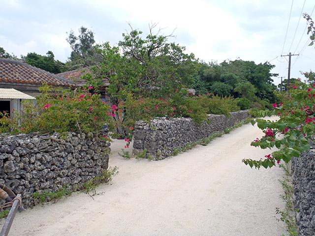 竹富島の通り