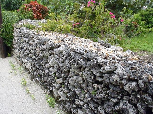 竹富島 珊瑚の石垣