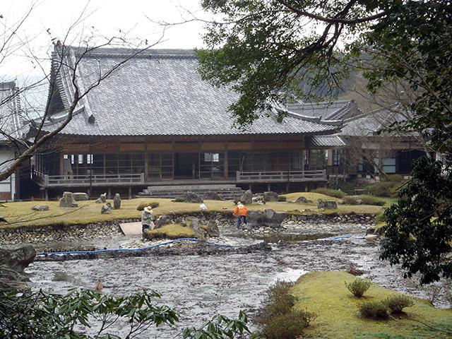 常栄寺 雪舟庭 本堂と池泉
