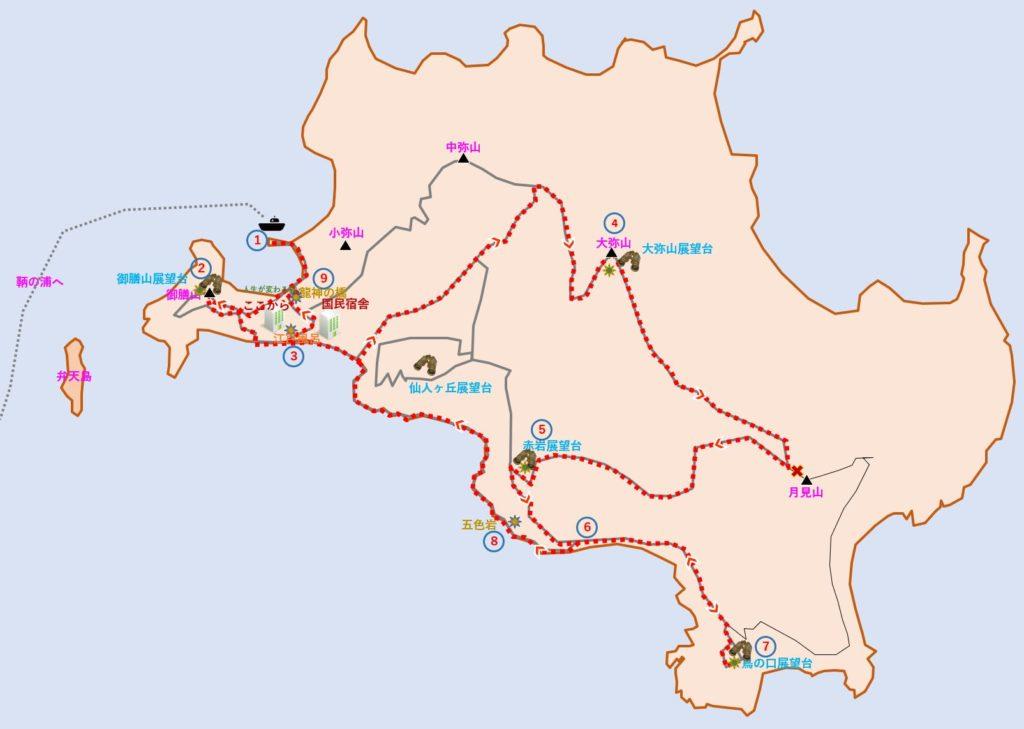 仙酔島 概略図