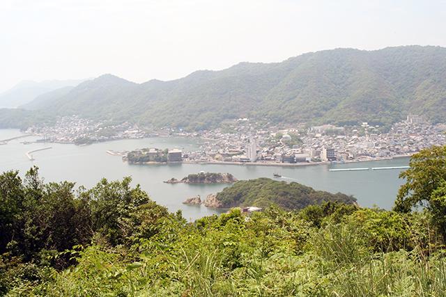 大弥山展望台からの景観