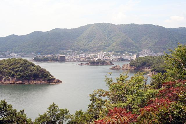 赤岩展望台からの景観