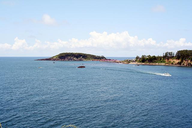 福良の浜から雄島方向