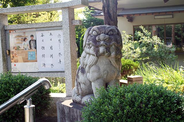 山門前の狛犬(吽)