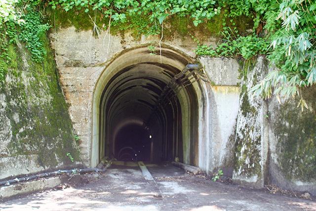 祖母谷温泉手前のトンネル