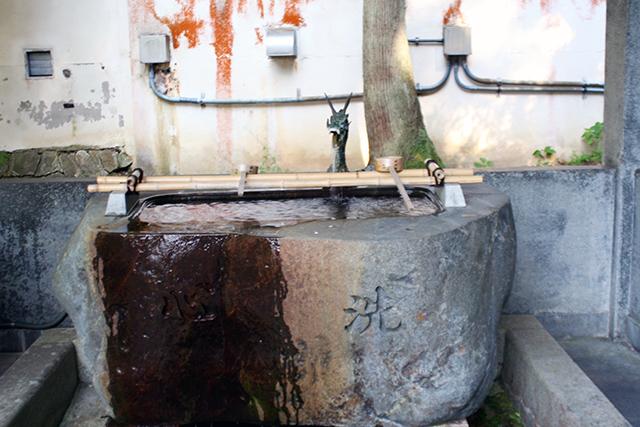 宇奈月神社 手水舎