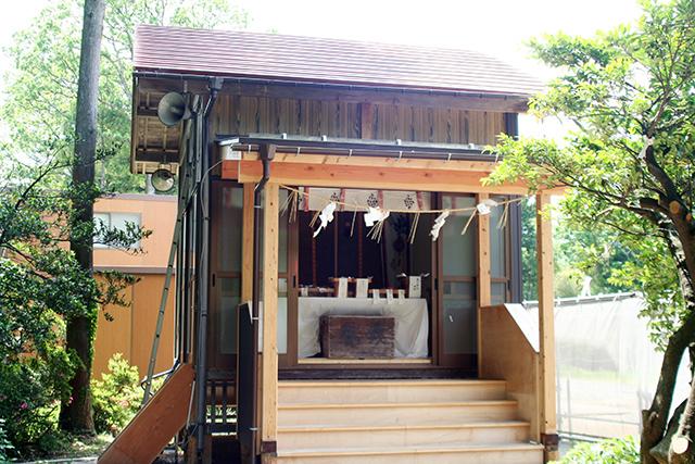 春日神社 仮社殿