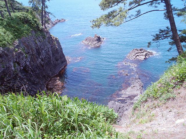 福良の浜 東尋坊近くの海岸