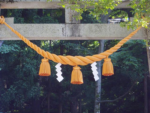 宇奈月神社 鳥居注連縄