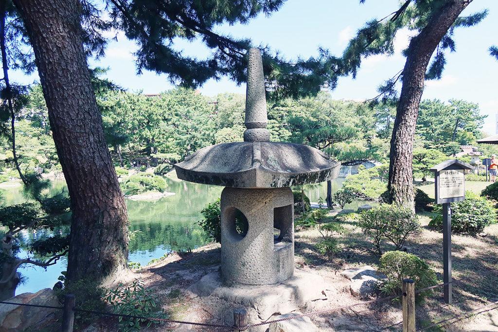 楊貴妃型石灯籠(ようきひがたいしどうろう)