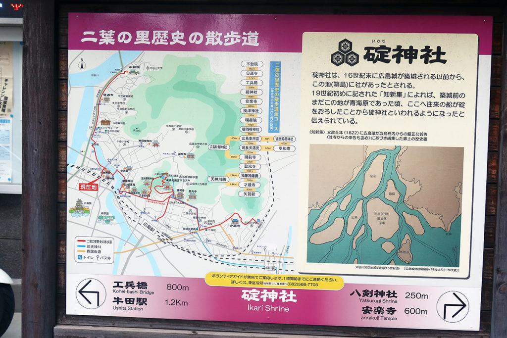 碇神社の説明板
