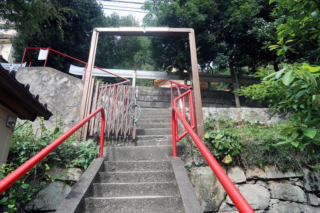 広島東照宮側の出口付近