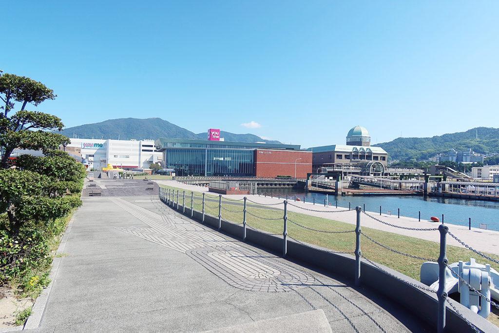 大和ミュージアムと呉港周辺
