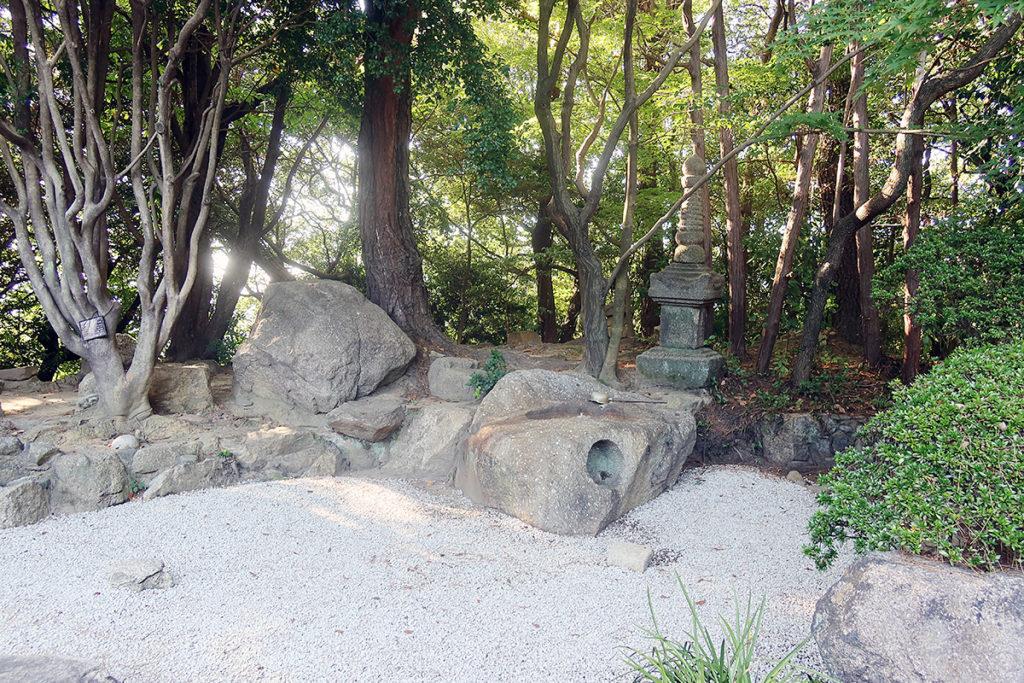 和館部の庭園