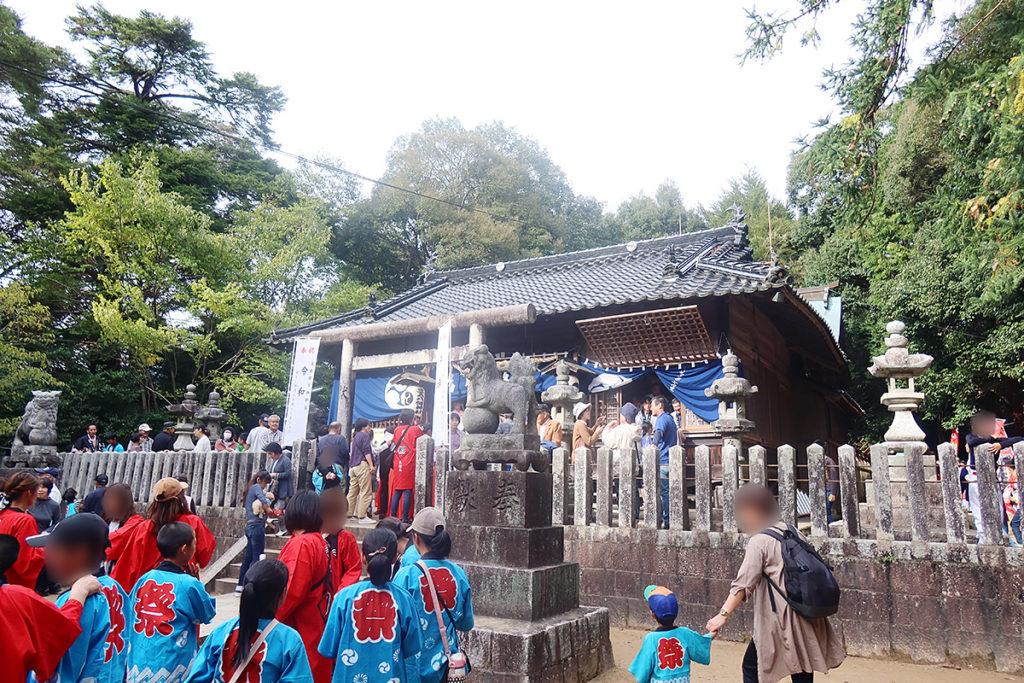 お祭りの風景
